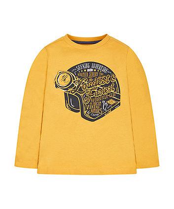 Mustard Helmet T-Shirt