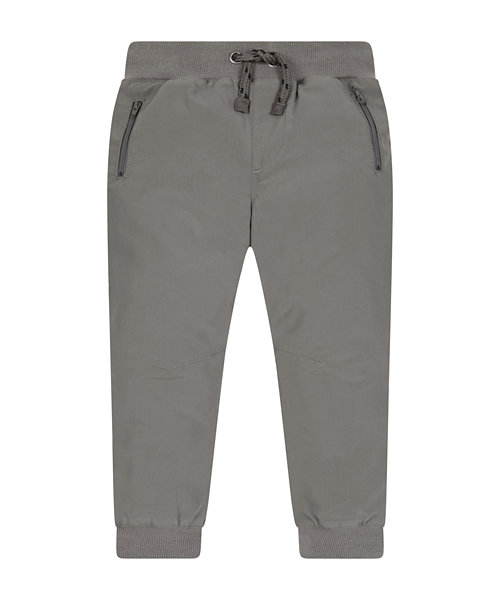 Grey Jersey-Lined Cuffed Trousers