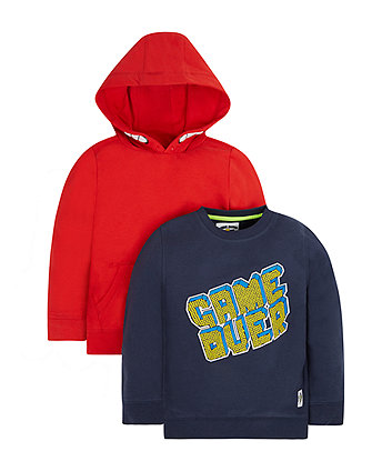 Sweat Top And Hoodie Set