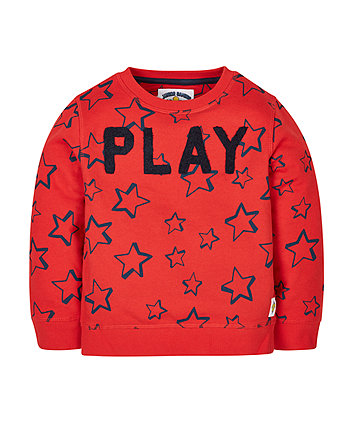 Red Stars Sweat Top