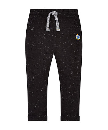 Speckled Black Joggers