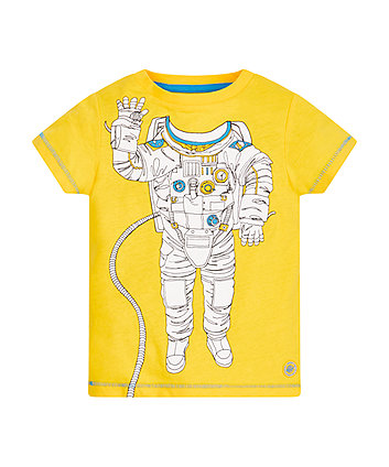 Yellow Astronaut Body T-Shirt