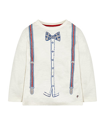 Mock Bow Tie And Braces T-Shirt