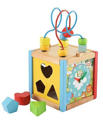 Mothercare Baby Safari Small Wooden Activity Cube