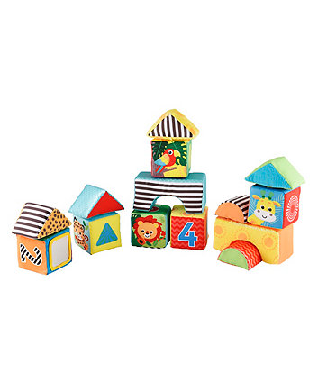 Mothercare Baby Safari Soft Discovery Building Blocks