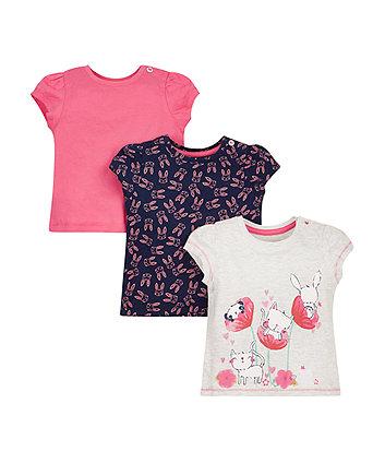 Bunny Short Sleeve T-Shirts - 3 Pack