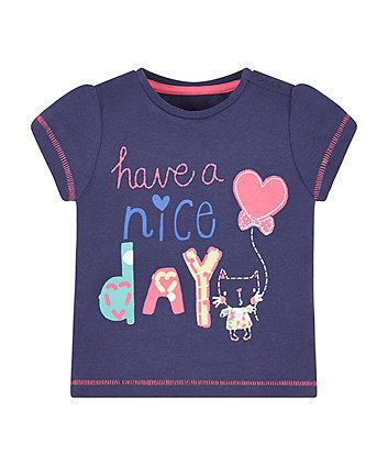 Navy Nice Day T-Shirt
