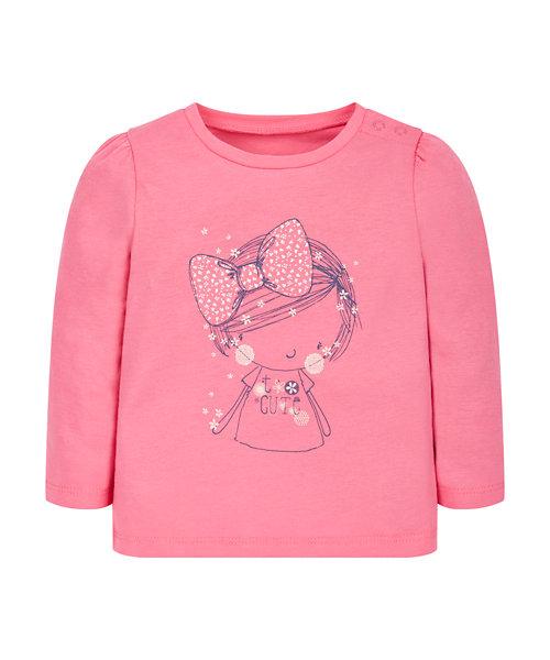 Pink Girl Print T-Shirt