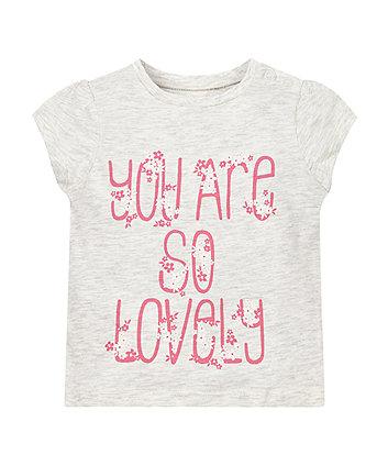 Grey Lovely Print T-Shirt