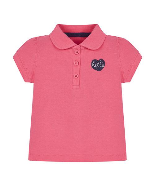 Pink Pique Polo T-Shirt