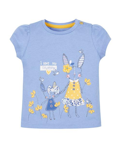 Blue 'I Love My Mummy' Short Sleeve T-Shirt
