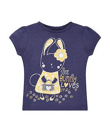Navy Bunny Love Short Sleeve T-Shirt