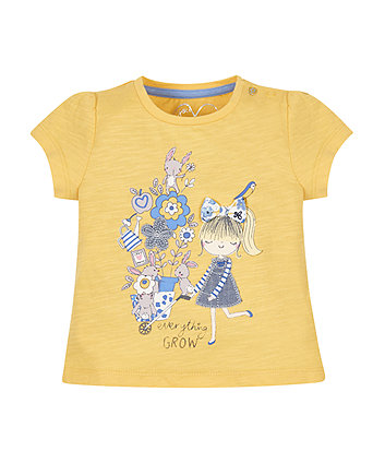 Mustard Flower Girl T-Shirt