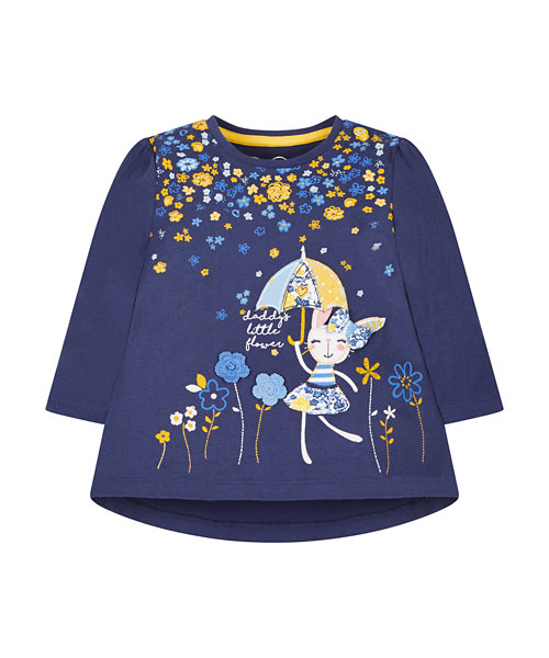 Navy Flower Shower T-Shirt