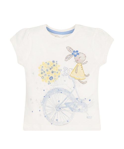 Short Sleeve Bunny Bicycle T-Shirt