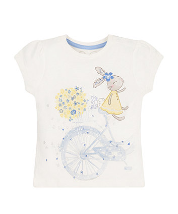 Short Sleeve Bunny Bicycle T-Shirt