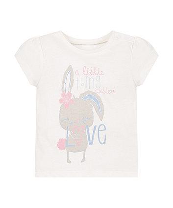 White Bunny Love T-Shirt