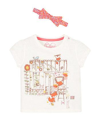 Greenhouse Girl T-Shirt And Headband Set