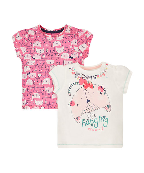 Pink Cat T-Shirts - 2 Pack