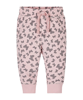 Pink Butterfly Joggers