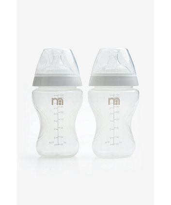 Mothercare Natural Shape Anti Colic Bottles 260ml - 2 Pack