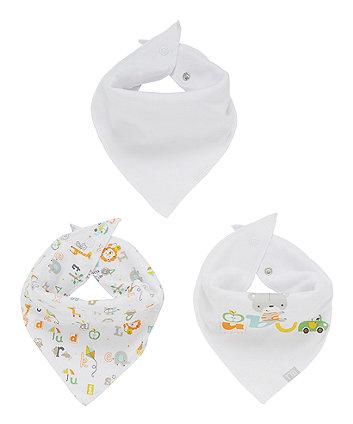 Mothercare Jungle Abc Dribbler Bibs - 3 Pack