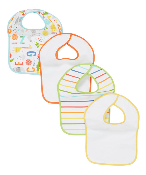 Mothercare Hello Friend Toddler Bibs - 4 Pack