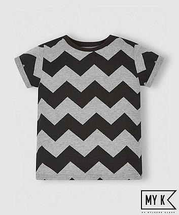 My K Grey Chevron T-Shirt