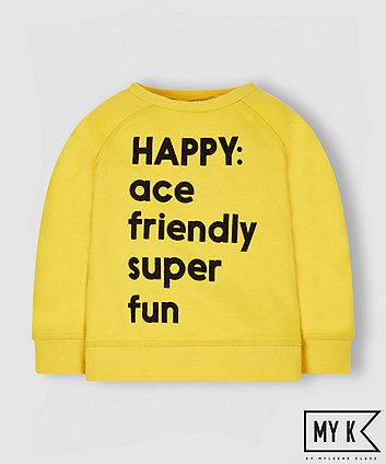 My K Yellow Happy Sweat Shirt