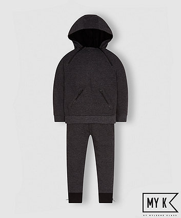 My K Charcoal Hoodie And Joggers Set
