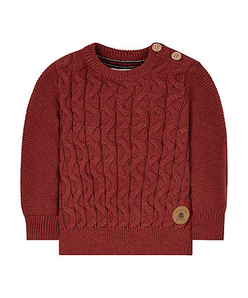 Heritage Red Cable Knit Jumper