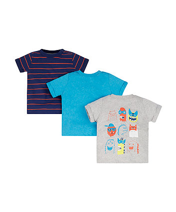 Monster T-Shirts - 3 Pack