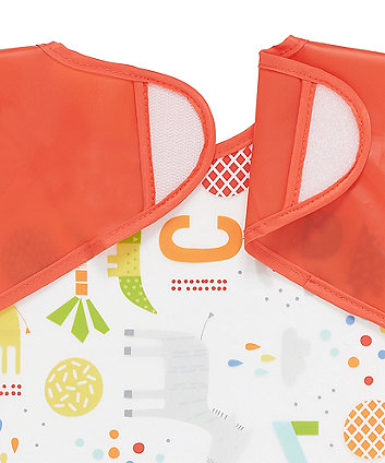 Mothercare Hello Friend Coverall Toddler Bibs - 2 Pack