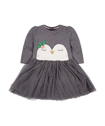 Grey Penguin Dress