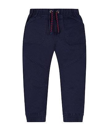 Navy Twill Trousers