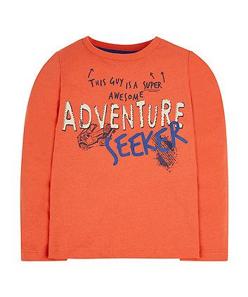 Orange Adventure Seeker T-Shirt