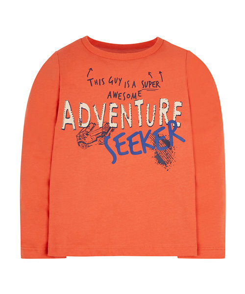 Orange Adventure Seeker T-Shirt