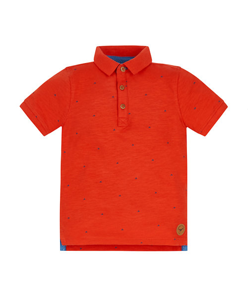 Orange Jersey Polo Shirt
