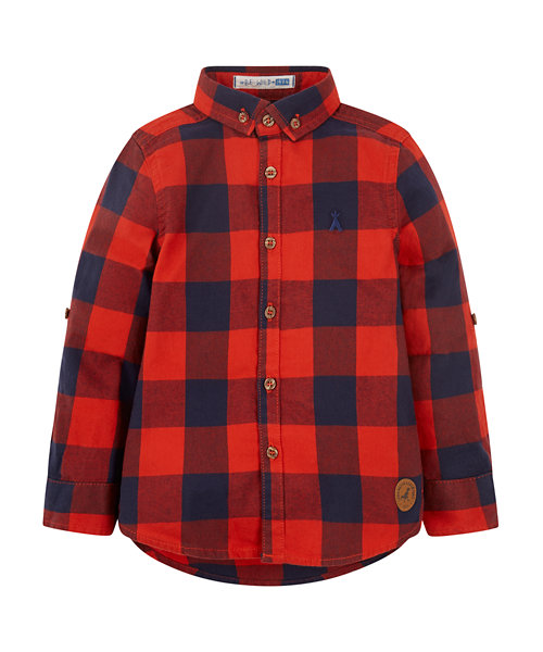 Navy And Red Checked Shirt