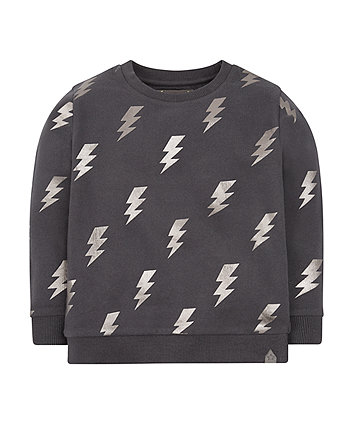 Lightning Bolt Crew Neck