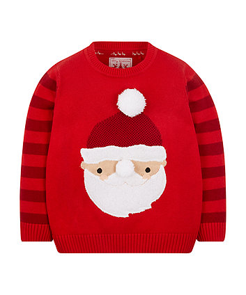 Red Santa Knitted Jumper