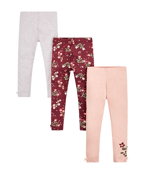 Floral Leggings - 3 Pack