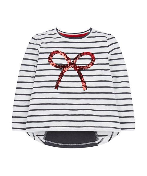 Stripy Bow T-Shirt