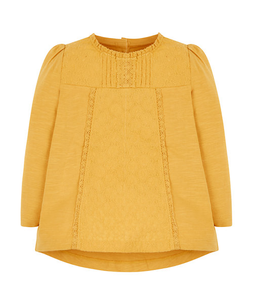 Mustard Broderie Blouse