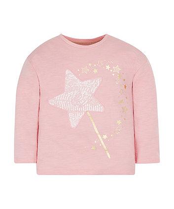Pink Glittering Star T-Shirt