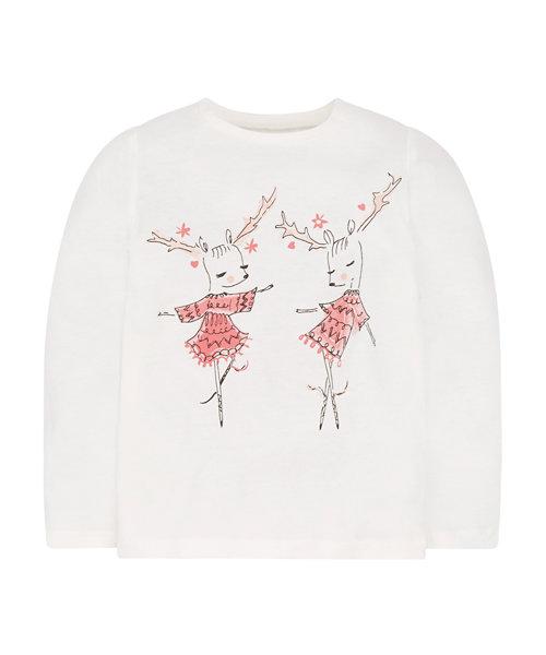 Cream Dancing Deer T-Shirt