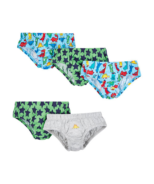 Dinosaur And Star Briefs - 5 Pack