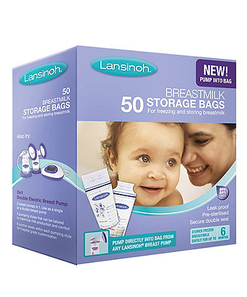 Lansinoh Breastmilk Storage Bags- 50 Pack