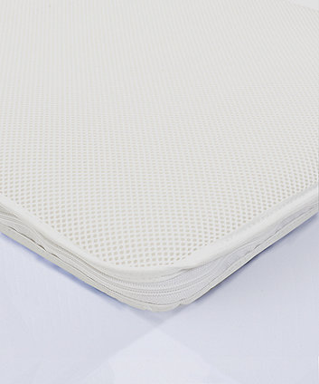* Mothercare 38 x 89cm Crib Square End SAFEseal Foam Mattress with Spacetec and COOLMAX freshFX