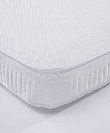 Mothercare 70 x 140cm Cot Bed Spring Interior Mattress with Spacetec and COOLMAX freshFX
